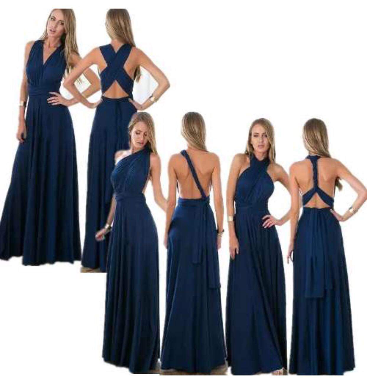 8cc6c0d05 Vestido longo multiuso em tecido crepe - Mon Cherri Moda Feminina