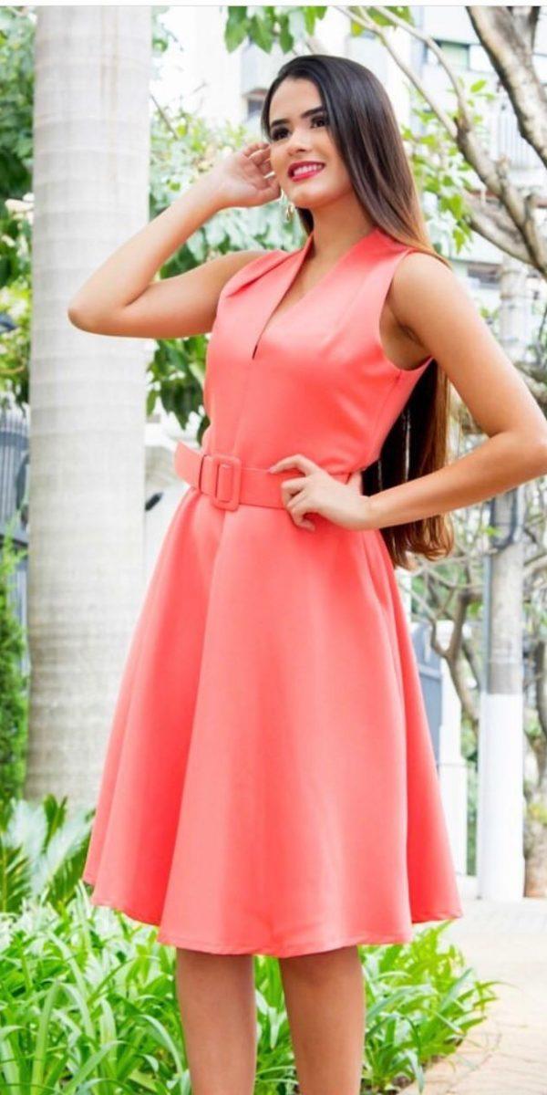 b5307eda1 vestido em crepe - Mon Cherri Moda Feminina